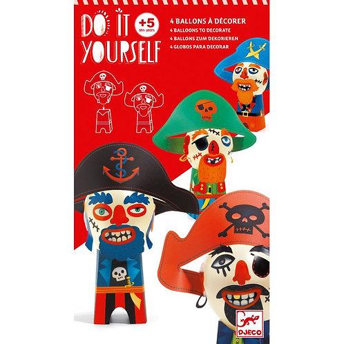 Ballons DIY - Pirates rigolos - Djeco