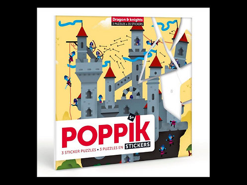 Poppik Dragon et chevaliers - Puzzle Stickers