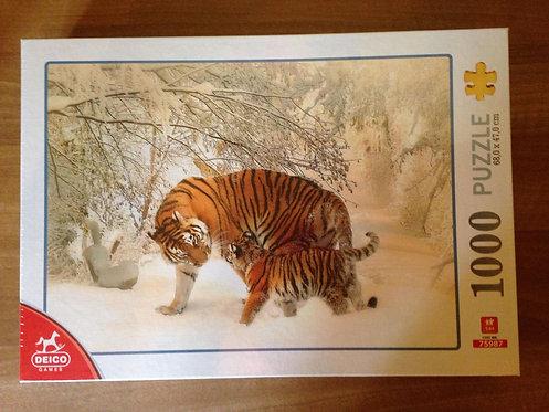 Puzzle - Tigres - 1000 pièces