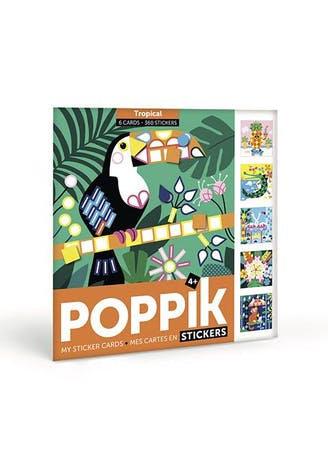 """Poppik - Cartes en Gommettes """"Tropical"""""""
