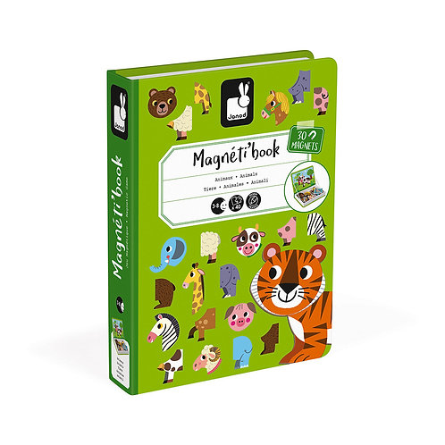 MAGNÉTI'BOOK ANIMAUX, 30 MAGNETS - Janod