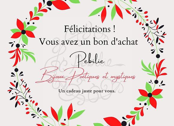 Chèque Cadeau !!