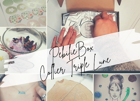 "PebilieBox ""Collier triple lune"""