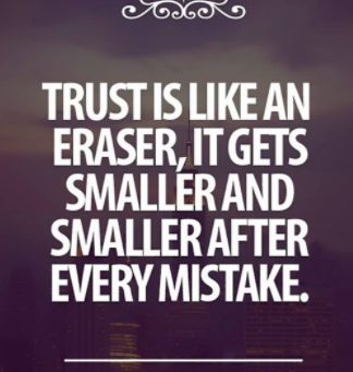 Being Trusted is the Greatest Compliment