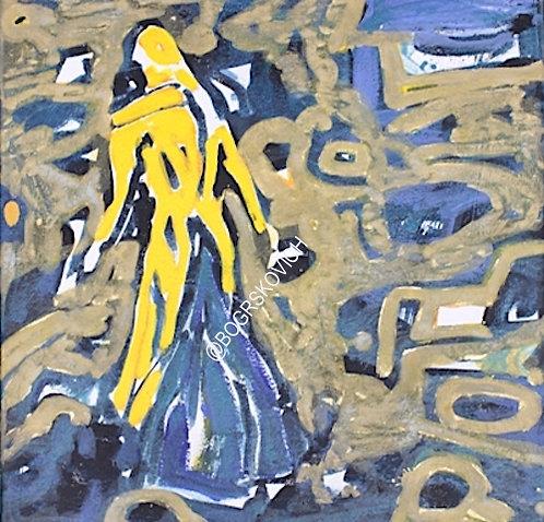 Sidetracking / Acrylic-Mixed Media on Canvas