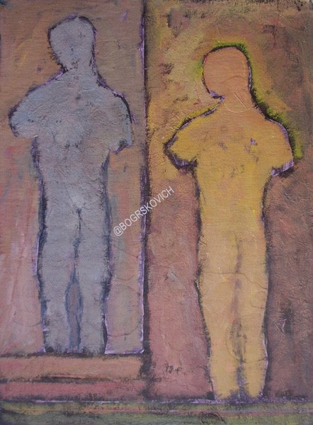 "Range / Acrylic-Mixed Media on canvas / 22"" x 16""- 56cm x 42cm"
