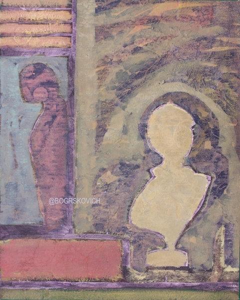 """Dais / Acrylic-Mixed Media on canvas-22"""" x 16""""/ 56cm x 42cm"""