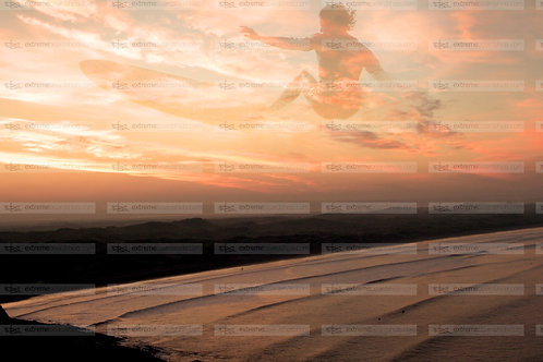 Longboard Sunset