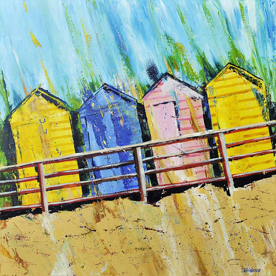 Beach Huts at Summerleaze
