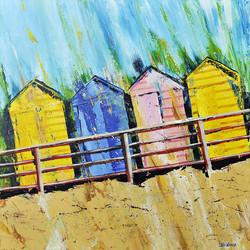 Beach Huts at Summerleaze