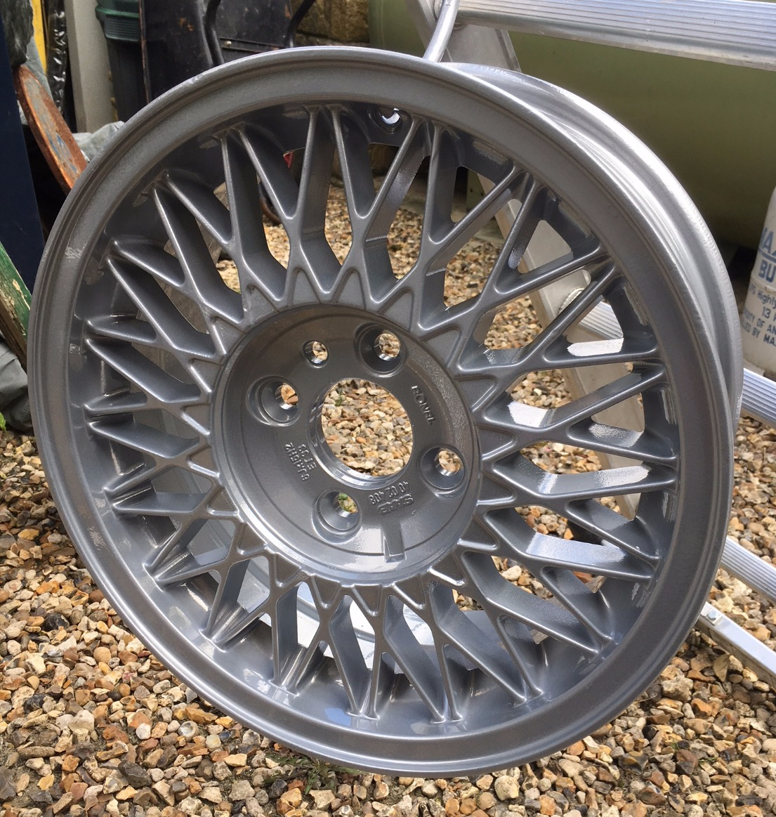 Saab 900 Classic powder coated wheel