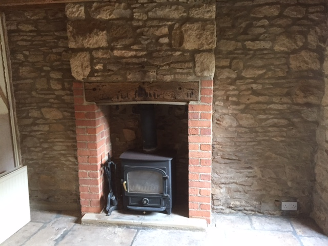Sandblasted Fireplace - After