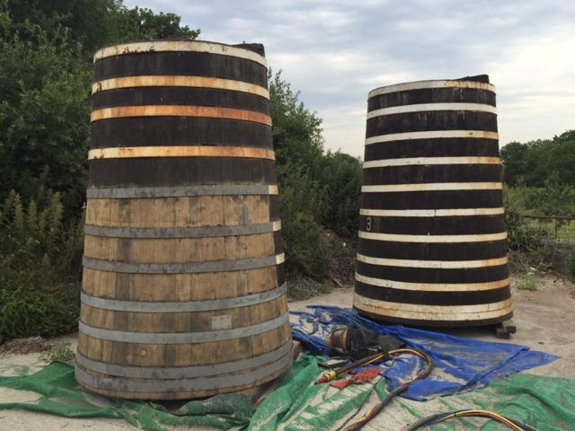 Oak Cider Barrels - Before