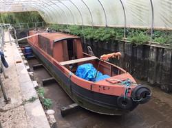 Sandblasted Narrow Boat - Before