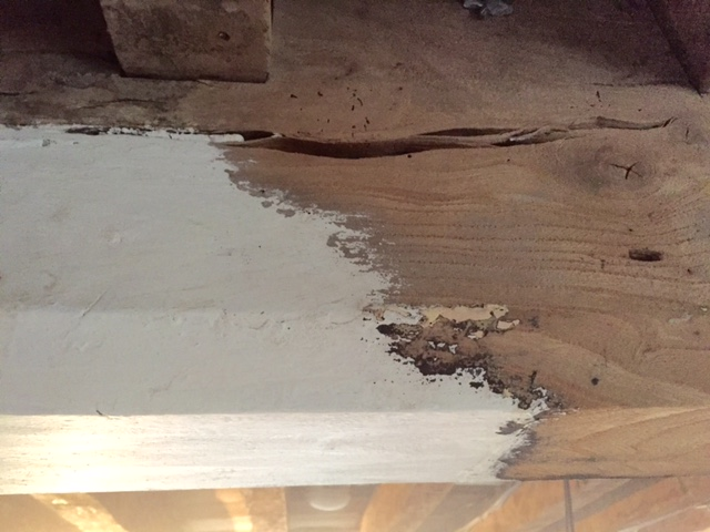 Elm Beam Cleaning - During