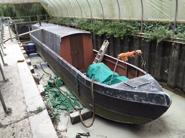 Sandblasted Narrow Boat - After