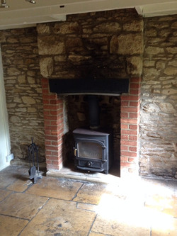 Sandblasted Fireplace - Before