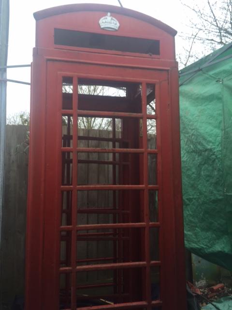 Telephone Box Sandblasting - Before