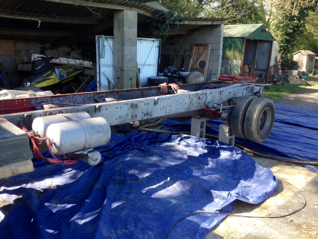 Lorry Chassis Sandblasting