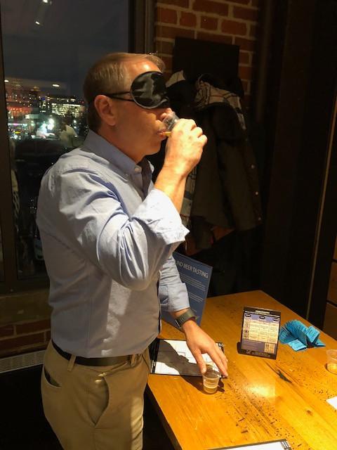 Jeff blind taste testing!