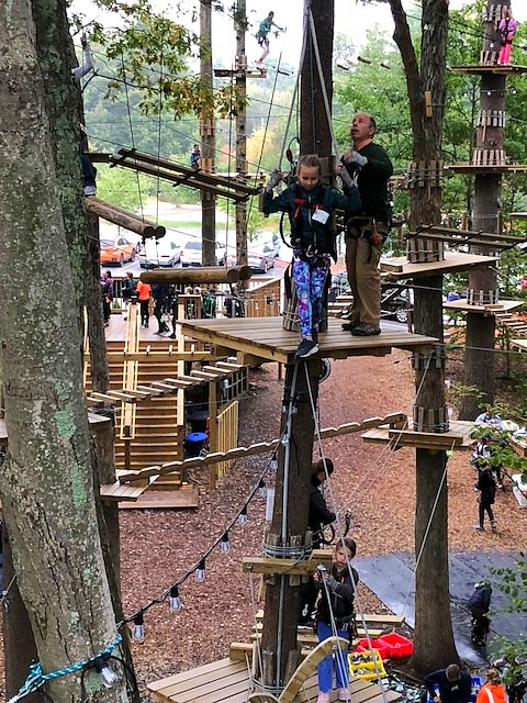 Father-Daughter ropes course