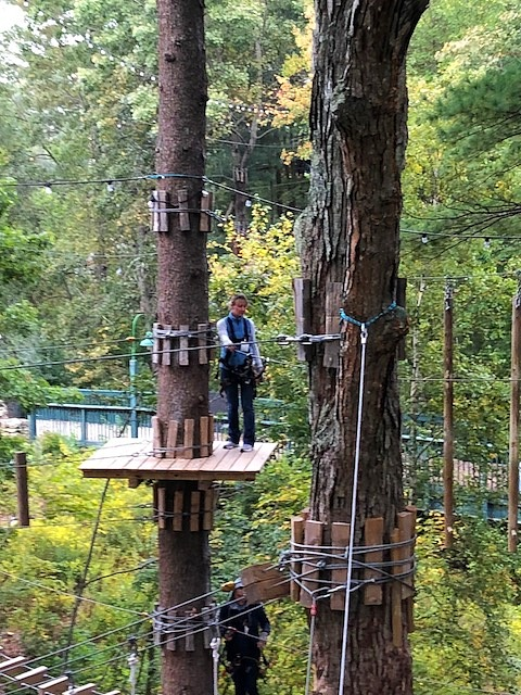 Gwen conquering the ropes course