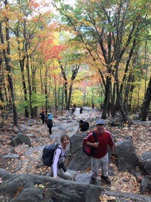 Hiking at Mount Monadnock
