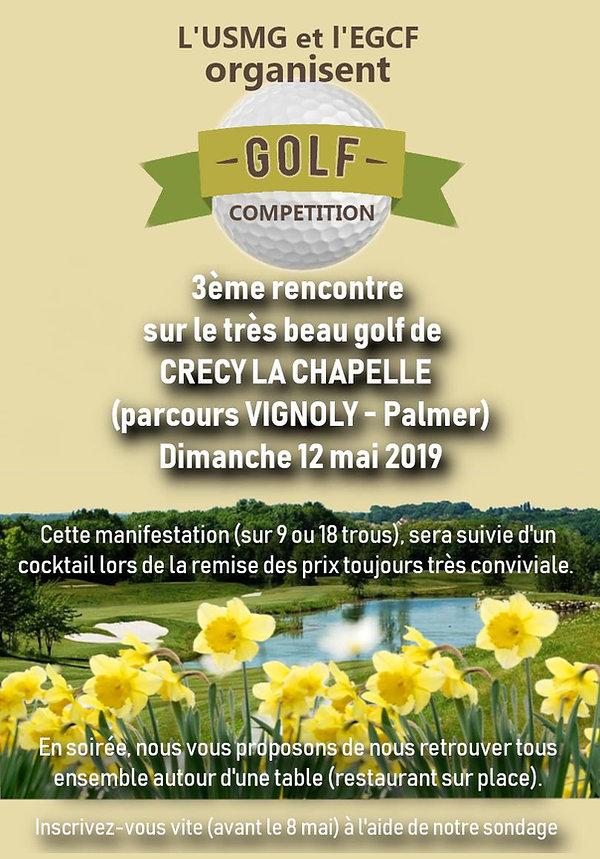 Cours et Stage de golf Paris  CRECY 12.05.19.