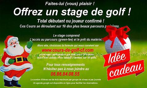 Bon cadeau Stage et cours de golf Cyril Ferran