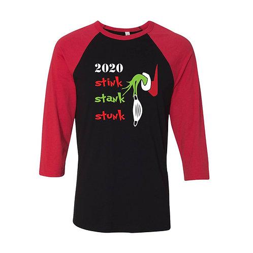 Grinch 2020 Stink Stank Stunk 3/4 Sleeve