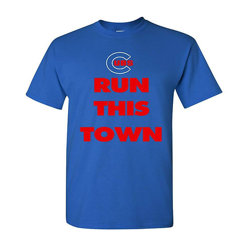 CHICAGO CUBS RUN THIS TOWN UNISEX TEE