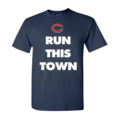 CHICAGO BEARS RUN THIS TOWN UNISEX TEE