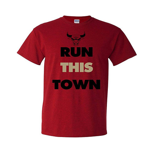 CHICAGO BULLS RUN THIS TOWN UNISEX TEE
