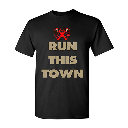 CHICAGO BLACKHAWKS RUN THIS TOWN UNISEX TEE