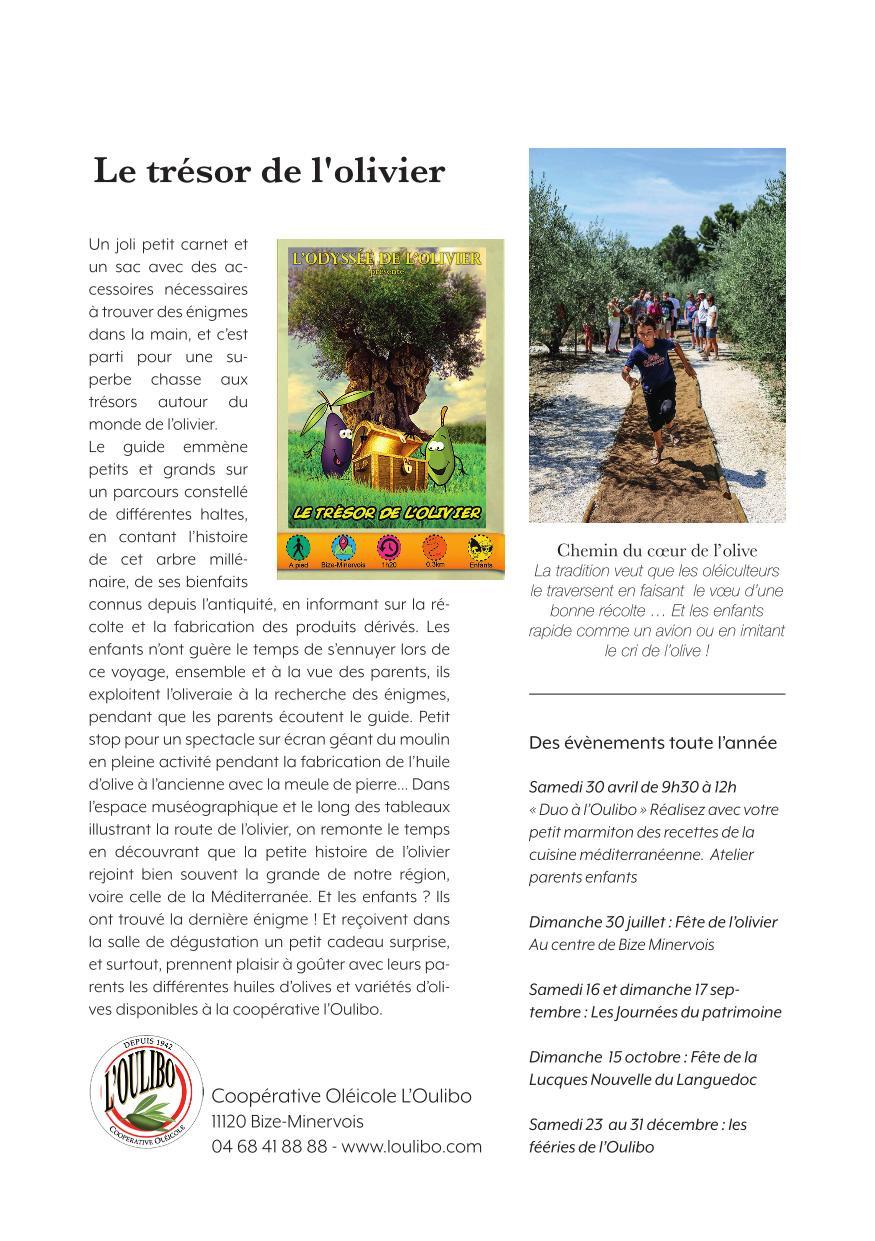Chasse au Trésor de l'olivier - L'oulibo