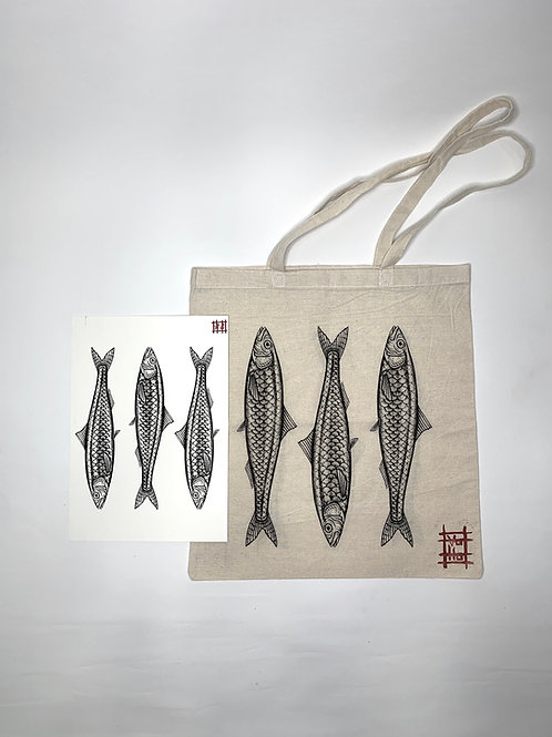 3 fishes bag