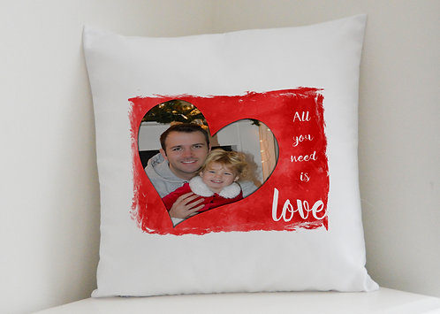 Personalised Cushion Cover plus Pillow, Valentine's Day, Mother's Day gift