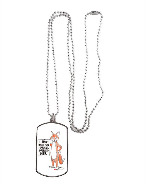 Red Fox Necklace 2 designs to choose from, Dog Tag or Heart Shape