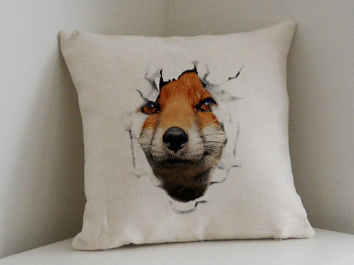 Cushion and Printed Cover of Red Fox Break Out
