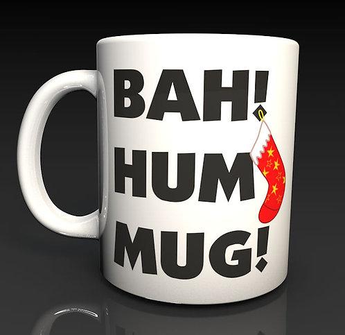 Christmas Mug Novelty Xmas Mug Bah Hum Mug, Dishwasher Safe