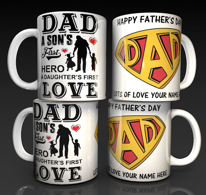 Personalised Happy Father's Day Mug