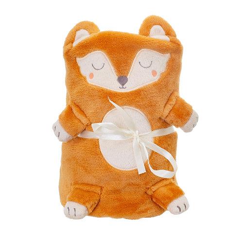 WOODLAND FOX BABY BLANKET