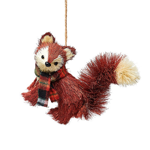 WOODLAND FOX BRUSH ANIMAL DECORATION