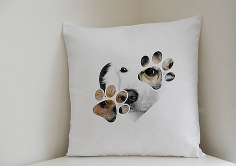 Personalised Cushion Cover Dog Lovers Three of your photographs Great Gift