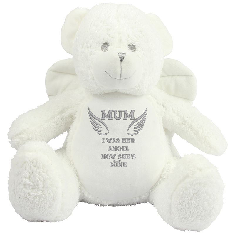 EMBROIDERED Personalised Angel Bear with wings 'In memory bear'