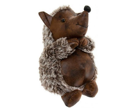 Hedgehog Doorstop, Faux Leather hog, great for the hedgehog fan