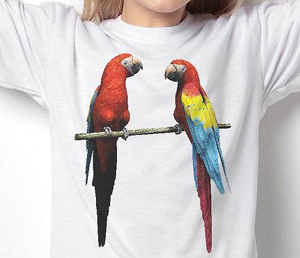 Children's T-Shirts Two Parrots