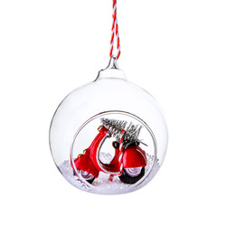 Scooter Christmas Bauble 1