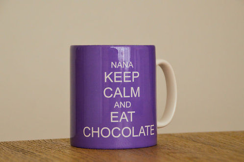 Personalised Ceramic Mug Keep Calm and Eat Chocolate