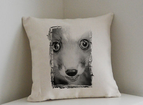 Cushion and Printed Cover of Daisy The Red Fox
